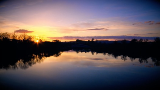 Sunset Owenacurra River, Midleton